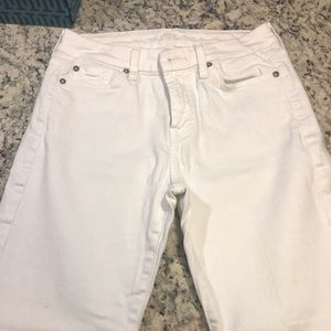 7 for All Man Kind White Jeans